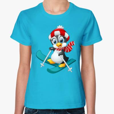 Женская футболка Winter Pinguin