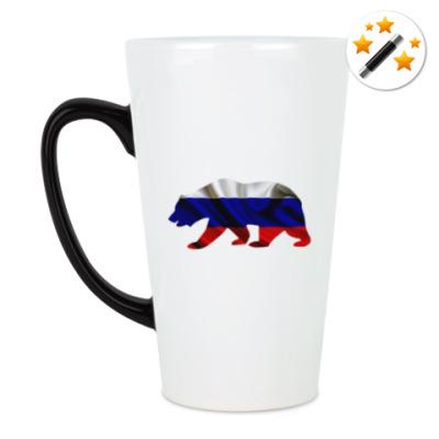 Кружка-хамелеон Русский медведь
