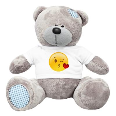 Плюшевый мишка Тедди Emoji Смайл: Воздушный Поцелуй