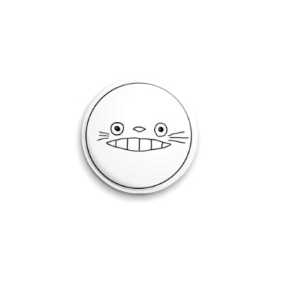 Значок 25мм  Totoro smile