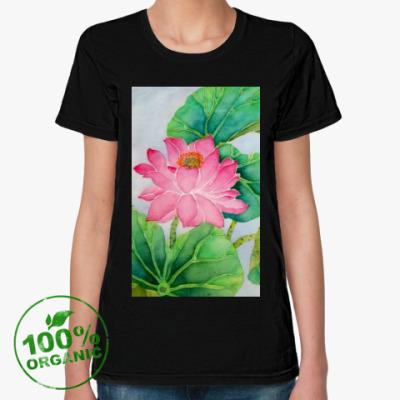 Женская футболка из органик-хлопка Лотосы