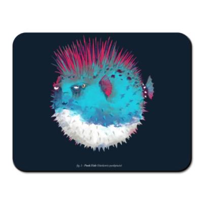 Коврик для мыши Брутальная рыба панк Punk fish