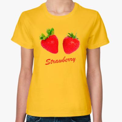 Женская футболка Клубника