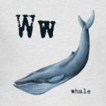 whale-горбатый кит, азбука