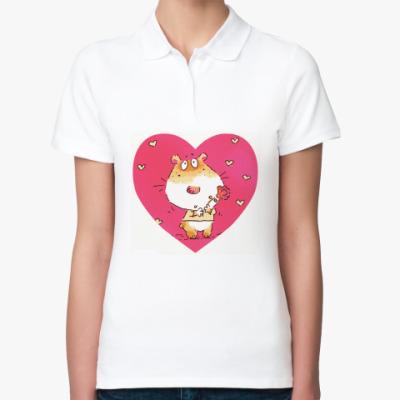 Женская рубашка поло Сердечко