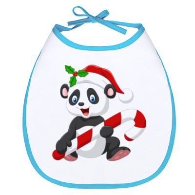 Слюнявчик Новогодняя Панда
