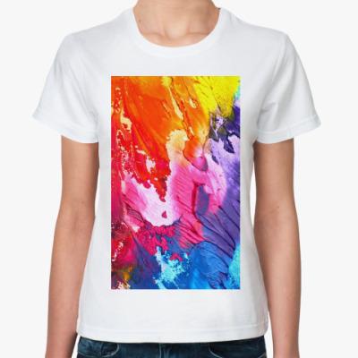 Классическая футболка Яркие краски