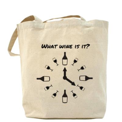 Сумка What wine is it?  Алкоголь. Вино. Wine