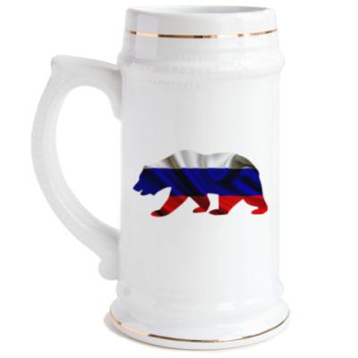 Пивная кружка Русский медведь