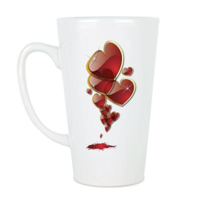 Чашка Латте Сердечки