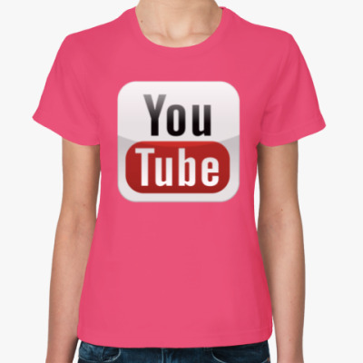 Женская футболка YouTube