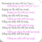 'Killing me softly'