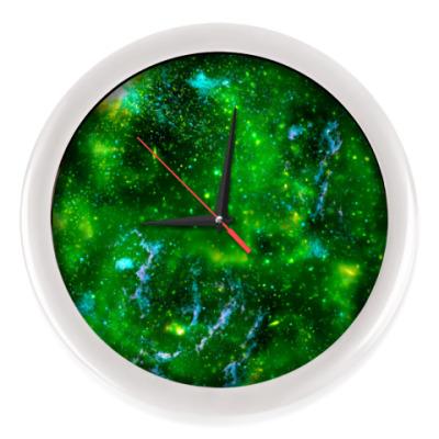 Настенные часы Кислотный космос