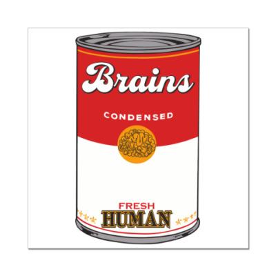 Наклейка (стикер) BRAINS FRESH HUMAN