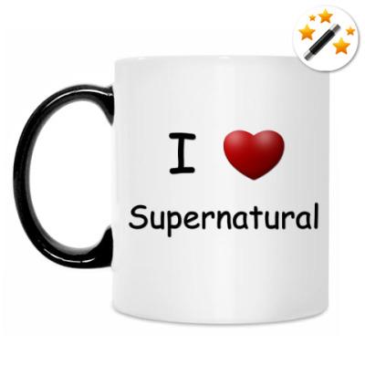 Кружка-хамелеон I Love Supernatural