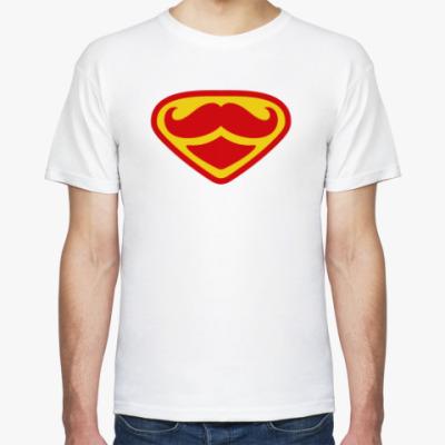 Футболка Moustache Superman