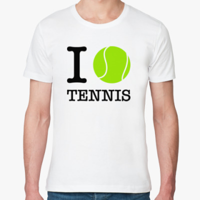 Футболка из органик-хлопка I love tennis