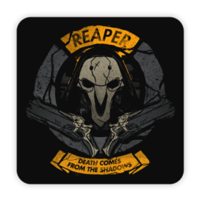 Костер (подставка под кружку) Overwatch Reaper Gabriel Reyes