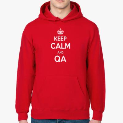 Толстовка худи Keep Calm and QA