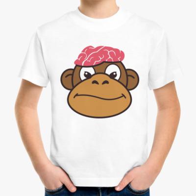 Детская футболка Обезьяньи мозги