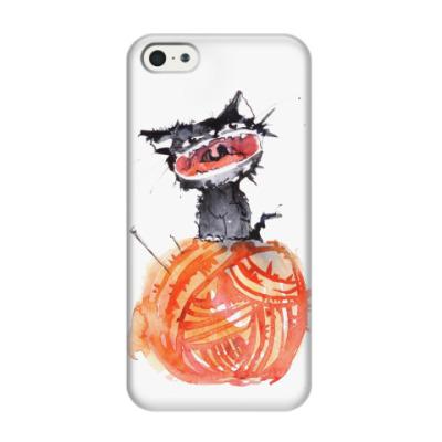 Чехол для iPhone 5/5s Котёнок на клубке