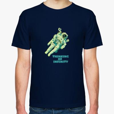 Футболка Космонавт в Бесконечной Вселенной