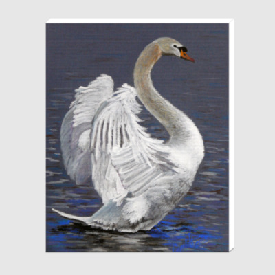 Холст Лебедь