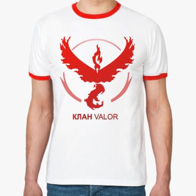 Футболка Ringer-T Pokemon Team Клан VALOR