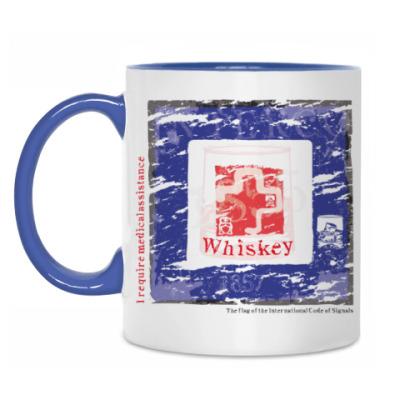 Кружка Морской флаг Уиски/Виски (Whiskey)