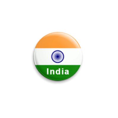 Значок 25мм Индия