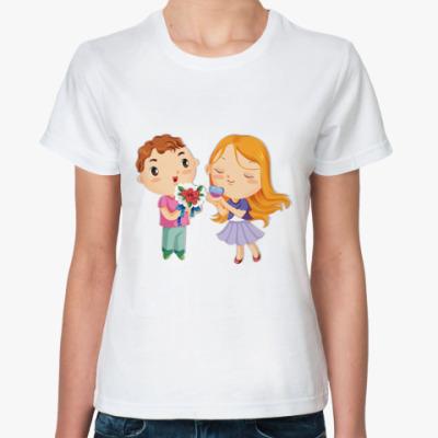 Классическая футболка Влюбленные