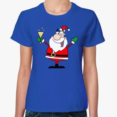 Женская футболка Party Santa