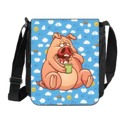 Сумка на плечо (мини-планшет) FAT PIG