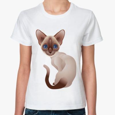 Классическая футболка Кошка