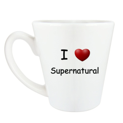 Чашка Латте I Love Supernatural