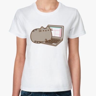 Классическая футболка COMP CAT