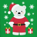Новогодний полярный медведь