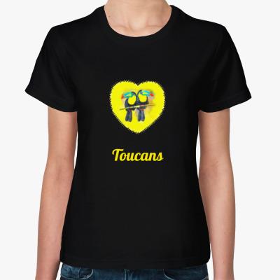 Женская футболка  Туканы
