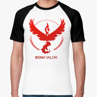 Футболка реглан Pokemon Team Клан VALOR