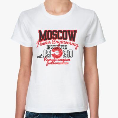 Женская футболка МЭИ