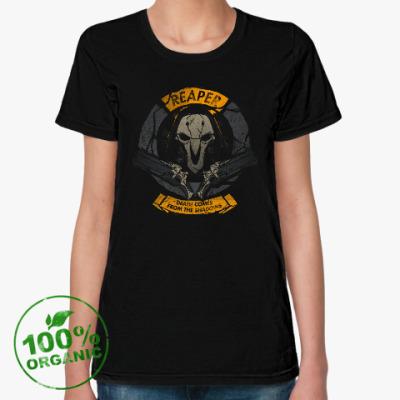 Женская футболка из органик-хлопка Overwatch Reaper Gabriel Reyes