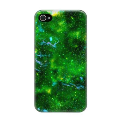 Чехол для iPhone 4/4s Кислотный космос