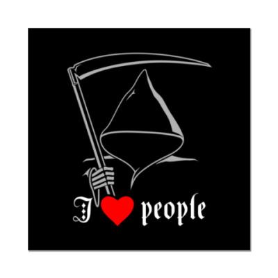 Наклейка (стикер)   I love people