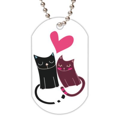 Жетон dog-tag Милые котики