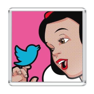Магнит Snow White & Twitter