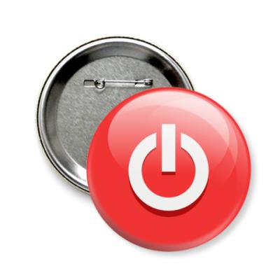 Значок 58мм Кнопка Пуск