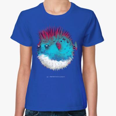 Женская футболка Брутальная рыба панк Punk fish