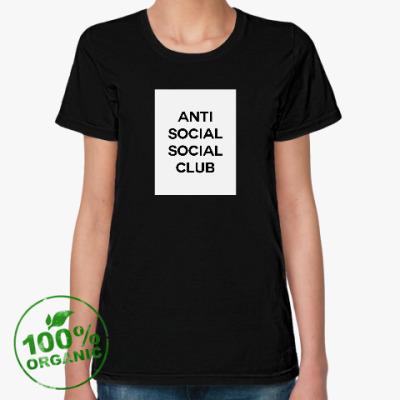 Женская футболка из органик-хлопка Антисоциальный социальный клуб