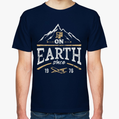 Футболка On earth since 1976
