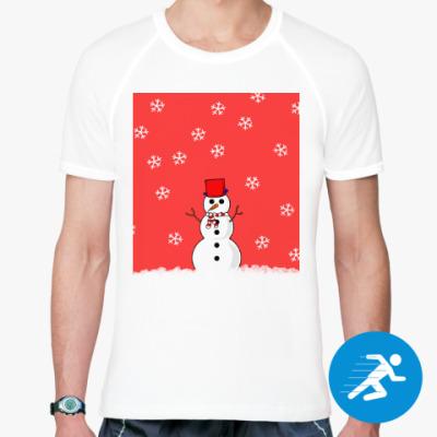 Спортивная футболка Снеговик